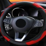red and black steering wheel covers